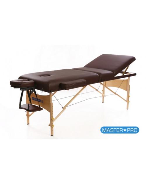 Mesas de masaje - Camilla De Masaje MasterPro Deluxe 3 Marrón